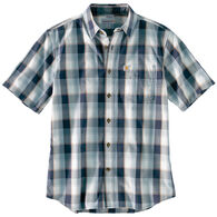 Carhartt Men's Essential Plaid Open Collar Button Down Short-Sleeve T-Shirt