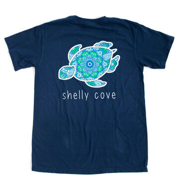 Shelly Cove Mens & Womens Bohemian Jewel Peacock Short-Sleeve T-Shirt