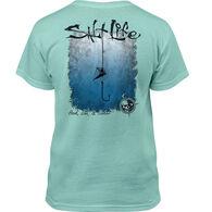 Salt Life Youth Hook Line and Sinker Fade Short-Sleeve T-Shirt