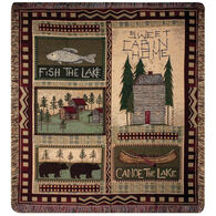 Manual Woodworkers & Weavers Big Bear Lodge Tapestry Throw