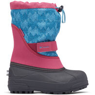Columbia Girls' Little Kids' Powderbug Plus II Print Snow Boot