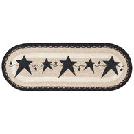 Capitol Earth Primitive Black Stars Oval Patch Runner