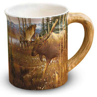 Wild Wings Cotton Grass Moose Sculpted Mug