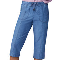 Lee Jeans Women's Flex-to-Go Relaxed Fit Pull On Utility Skimmer Capri Pant
