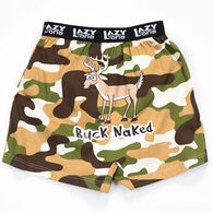 Lazy One Boys' & Girls' Buck Naked Camo Boxer