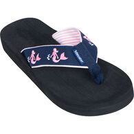 Tidewater Sandals Women's Pink Mermaid Flip Flop Sandal