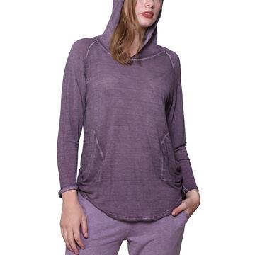 La Cera Womens Soft & Supple Hooded Knit Top
