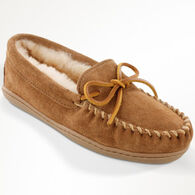 Minnetonka Women's Sheepskin Hardsole Moccasin Slipper
