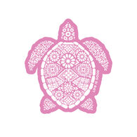 Life is Good Beautiful Turtle Small Die Cut Decal