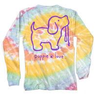 Puppie Love Girl's Tie Dye #2 Pup Long-Sleeve Shirt