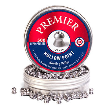 Crosman Premier 22 Cal. 14.3 Grain Lead HP Pellet (500)
