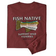Patagonia Men's Protect Wild Fisheries Native World Trout Responsibili-Tee Long-Sleeve T-Shirt