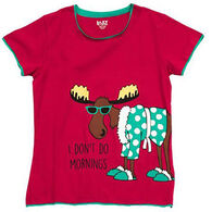 Lazy One Women's Morning Moose Fitted Sleep T-Shirt