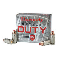 Hornady Critical Duty 40 Smith & Wesson 175 Grain FlexLock Handgun Ammo (20)