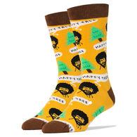 Oooh Yeah! Socks Men's Bob Ross Happy Tree Crew Sock