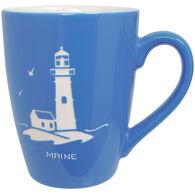 Cape Shore Maine Lighthouse Etched Mug