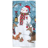 Kay Dee Designs Woodland Christmas Snowman Terry Towel