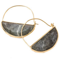 Scout Curated Wears Women's Stone Prism Hoop - Labradorite/Gold