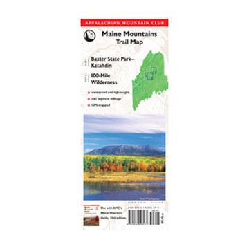 Globe Pequot Press AMC Map: Baxter State Park - Katahdin and 100-Mile Wilderness