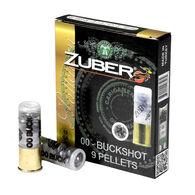 """Zuber 12 GA 2.75"""" 9 Pellet #00 Buckshot Ammo (10)"""