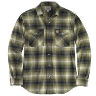 Carhartt Men's Big & Tall Rugged Flex Relaxed Fit Flannel Snap Front Plaid Long-Sleeve Shirt