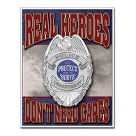 Desperate Enterprises Real Heroes Policemen Tin Sign