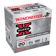 "Winchester Super-X High Brass 20 GA 2-3/4"" 1 oz. #6 Shotshell Ammo (25)"