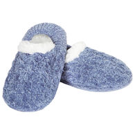 MeMoi Women's Classic Cable Knit Chenille Slipper