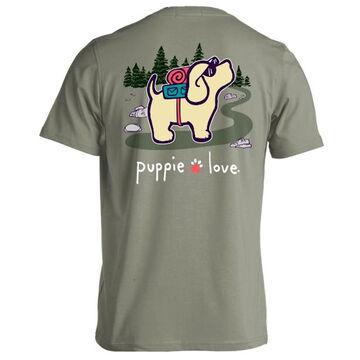 Puppie Love Womens Hiking Pup Short-Sleeve T-Shirt