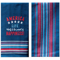 Kay Dee Designs America Embroidered 2-Piece Towel Set