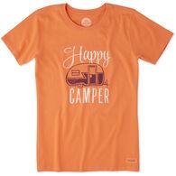 Life is Good Women's Happy Camper Crusher Short-Sleeve T-Shirt