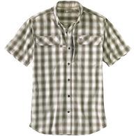 Carhartt Men's Force Relaxed Fit Lightweight Button-Front Plaid Short-Sleeve Shirt