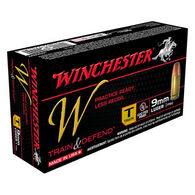 Winchester W Train & Defend 9mm Luger 147 Grain FMJ Training Handgun Ammo (50)