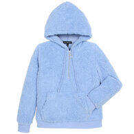 Derek Heart Women's Fluffy Faux Sherpa Fleece 1/4-Zip Hoody