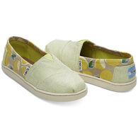TOMS Girl's Lemons Alpargata Slip-On Shoe