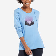 Life is Good Women's Star Struck Watercolor Hooded Smooth Long-Sleeve T-Shirt