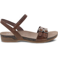 Dansko Women's Rebekah Waxy Burnished Leather Sandal