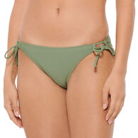 Hot Water Women's Tie Side Hipster Swimsuit Bottom