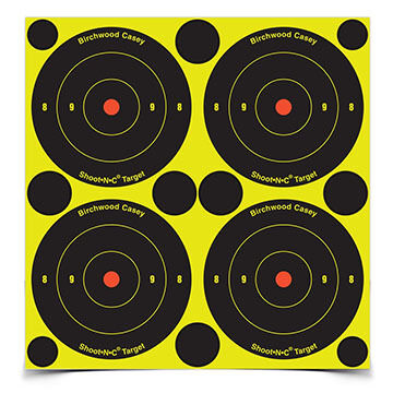 "Birchwood Casey Shoot-N-C 3"" Bull's-eye Self-Adhesive Target - 48 or 240 Pk."