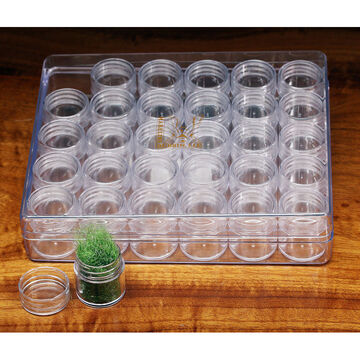 Hareline Small 30-Piece Screw Cap Containers In Box Set