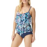 Beach House - Swimwear Anywear Women's Portia Secret Garden Mesh Layer Tankini Top Swimsuit