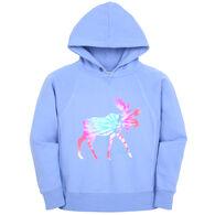 Lakeshirts Girl's Blue 84 Inheritance Moose Sweatshirt