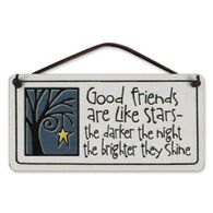 "Spooner Creek ""Good Friends Are Like Stars"" Mini Charmers Tile"