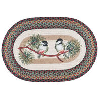 Capitol Earth Chickadee Oval Patch Rug