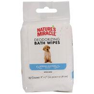 Nature's Miracle Deodorizing Dog Bath Wipe - 25 Pk.