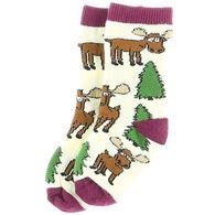Lazy One Infant Moose Hug Sock