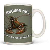 Earth Sun Moon Excuse Me Lobster Mug