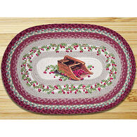 Capitol Earth Cranberries Oval Patch Rug