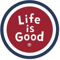 """Life is Good Sphere 4"""" Circle Sticker"""