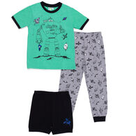 Noruk Boy's Space PJ Set, 3-Piece